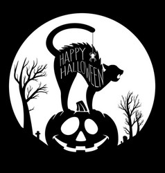 check out this black and white halloween il vector image