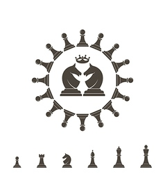 Chess piece Logo vector