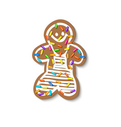 Christmas gingerbread sprinkled with grainy vector