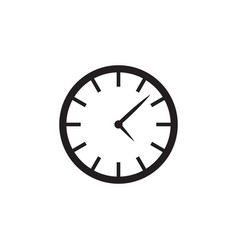 clock time icon graphic design template vector image