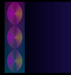color neon abstract gradient linear on dark vector image
