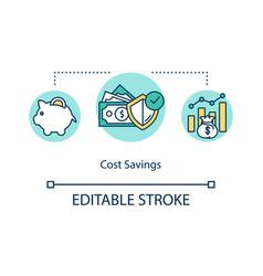 Cost savings concept icon vector