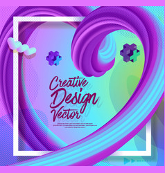 Creative 3d flow poster design abstract background vector