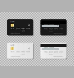 Credit card debit card design template plastic vector