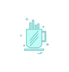 cup icon design vector image
