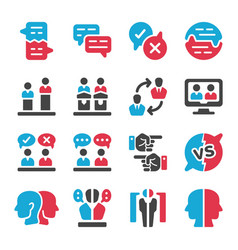 debate icon set vector image