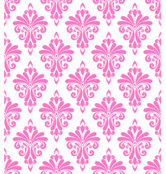 Decorative damask seamless design vector