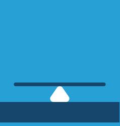 Empty balance on blue vector
