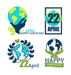 environment and ecology love earth isolated icon vector image