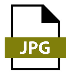 File name extension jpg type vector