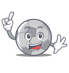 Finger football character cartoon style vector