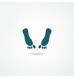 footprint icon vector image
