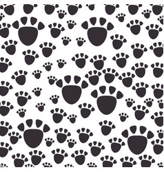 footprint mascot pattern background vector image