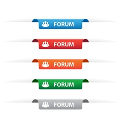 Forum paper tag labels vector image