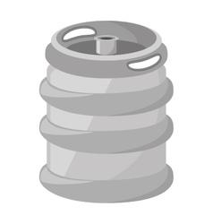 fresh beer barrel isolated icon vector image