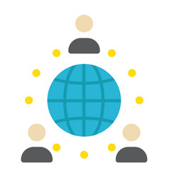 global partnership flat icon business vector image