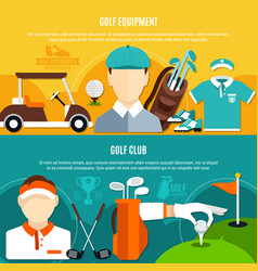 golf game horizontal banners vector image