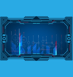 graphical presentation computer panel monitor vector image