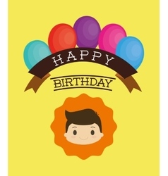 Happy birthday kid cartoon vector