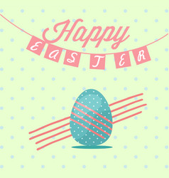 Happy easter day rabbit awesome design concept vector