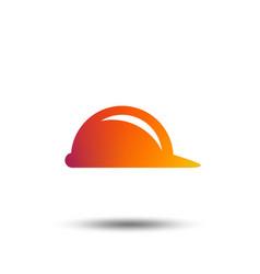 hard hat sign icon construction helmet symbol vector image