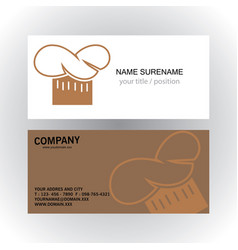 head cook creative logo business card vector image