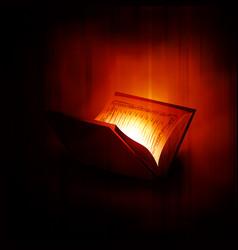 Holy book islam quran shareef vector