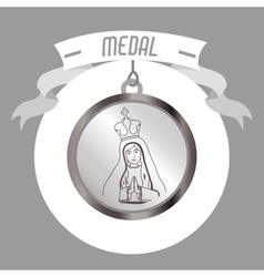 holy medal design vector image