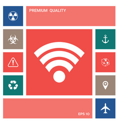Internet connection icon elements for your vector