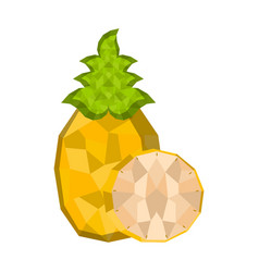 isolated geometric pineapple cut low poly vector image