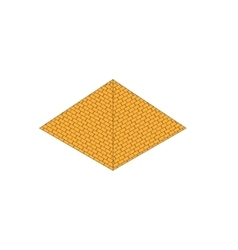isometric egypt pyramid vector image