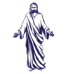 Jesus christ son god symbol of vector
