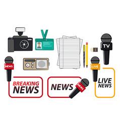 journalist supplies vector image