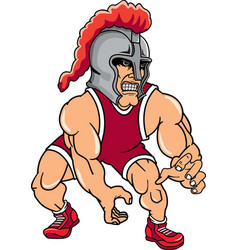 knight sports logo mascot wrestling vector image