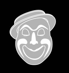 Laughing clown vector