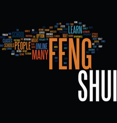 learn feng shui text background word cloud concept vector image