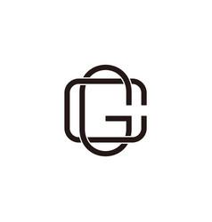 letter gc linked thin line symbol logo vector image