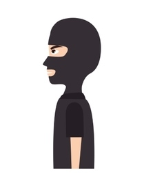 Mask thief robber vector