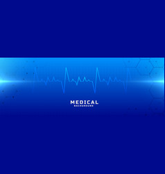 Medical and healthcare blue background vector
