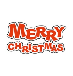 Merry Christmas Logo for holiday Emblem new year vector image