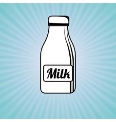 Milk bottle design vector