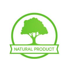 natural farm product - round emblem vector image
