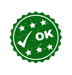 ok grunge stamp with tick vector image