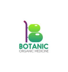 organic medicine icon vector image