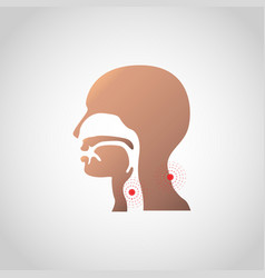 pain in the throat and neck icon design vector image