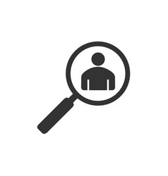 people search icons flat vector image