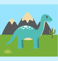 prehistoric creature nature vector image