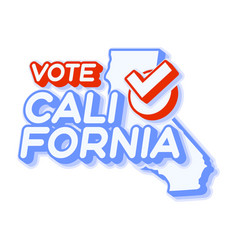Presidential vote in california usa 2020 state vector