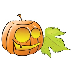 pumpkin decorating for Halloween vector image