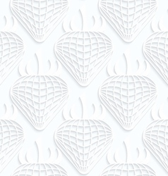 Quilling white paper checkered strawberries vector